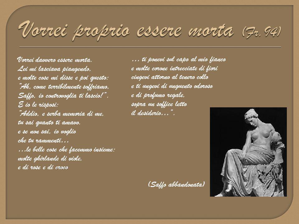  Carattere cletico , cioè di invocazione alla divinità, in questo caso Afrodite.