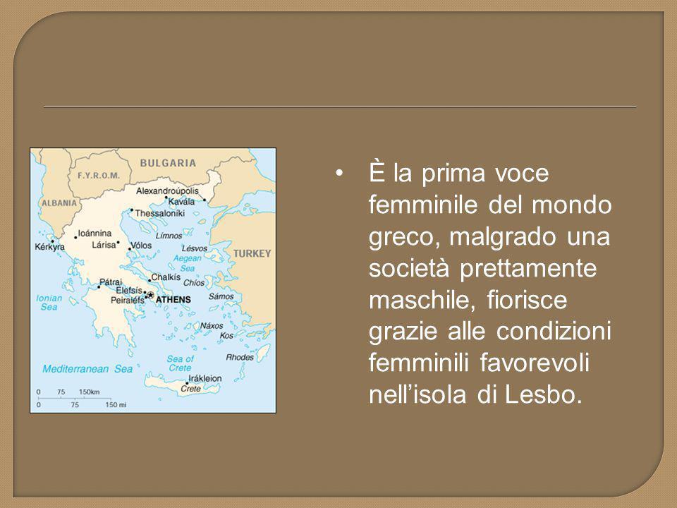  Saffo, in greco Σαπφώ,è stata una poetessa greca antica vissuta tra il VII e il VI secolo a.C.