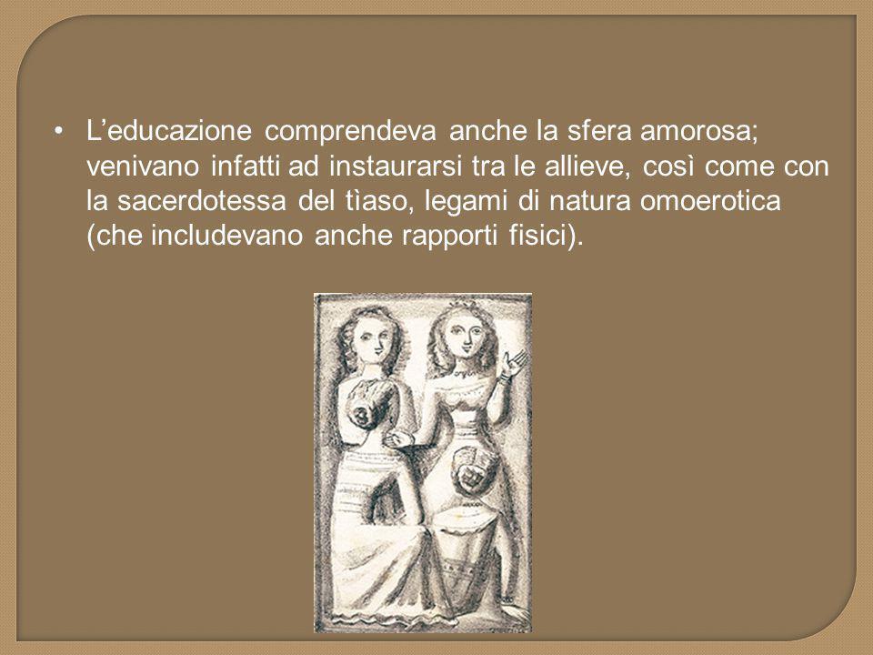  Le tiadi venivano istruite attraverso l'apprendimento di discipline quali il canto, la poesia o la danza.