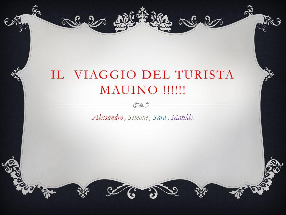 IL VIAGGIO DEL TURISTA MAUINO !!!!!! Alessandro, Simone, Sara, Matilde.