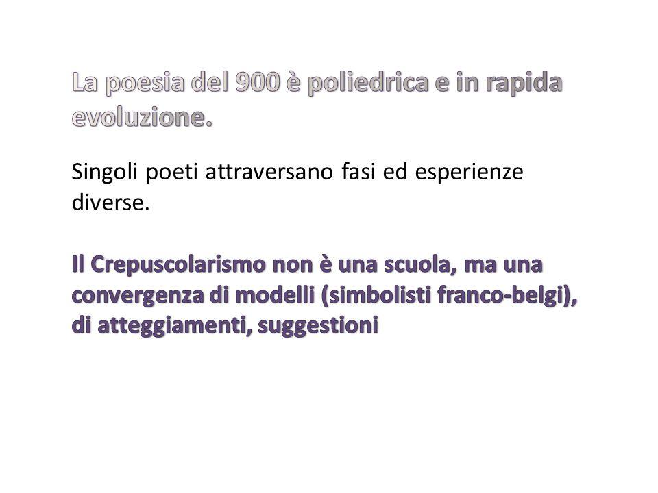 Il termine crepuscolarismo compare per la prima volta nel 1910 nel quotidiano La Stampa in una recensione poetica intitolata Poesia crepuscolare e firmata dal critico Giuseppe Antonio Borgese.