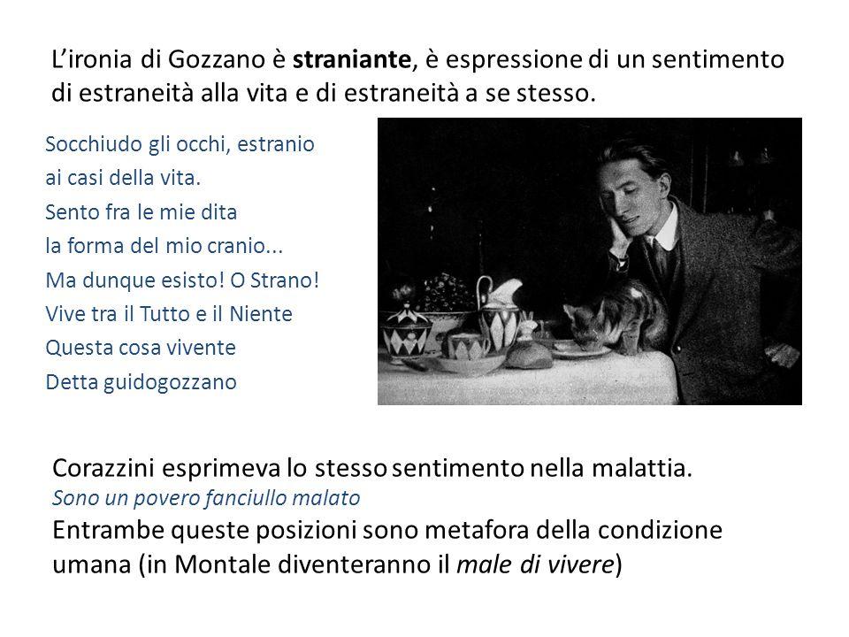… ma lo stile… Se D'Annunzio e Corazzini avevano già ampiamente utilizzato il verso libero – con esiti diversi – Gozzano preferisce le forme metriche chiuse.