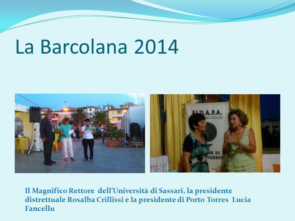 La Barcolana 2014 Il Magnifico Rettore dell'Università di Sassari, la presidente distrettuale Rosalba Crillissi e la presidente di Porto Torres Lucia Fancellu