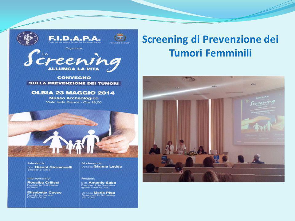 Screening di Prevenzione dei Tumori Femminili