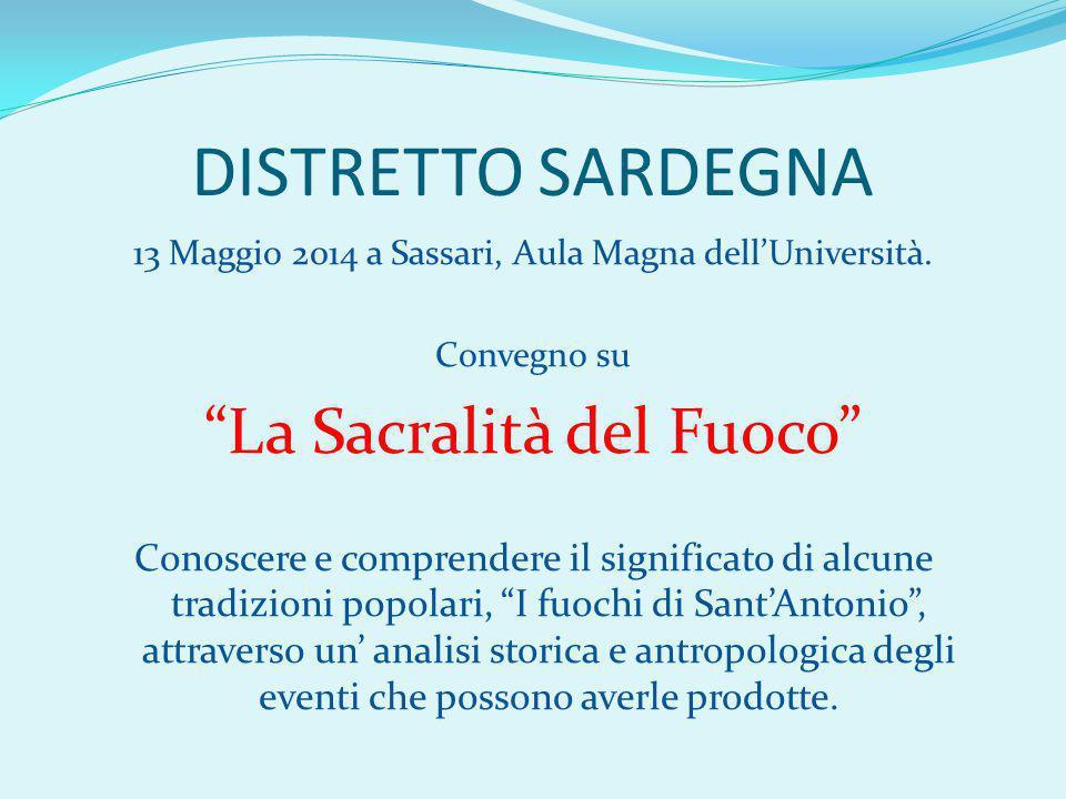 DISTRETTO SARDEGNA 13 Maggio 2014 a Sassari, Aula Magna dell'Università.
