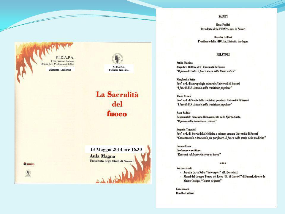 Distretto Sardegna F.I.D.A.P.A. Distretto Sardegna 13 Maggio 2014 ore 16.30