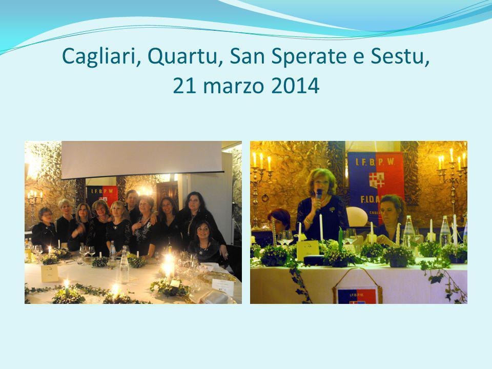 Cagliari, Quartu, San Sperate e Sestu, 21 marzo 2014