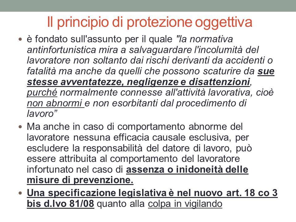 Il principio di protezione oggettiva è fondato sull'assunto per il quale