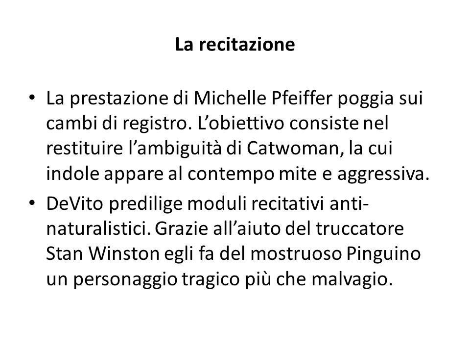 La recitazione La prestazione di Michelle Pfeiffer poggia sui cambi di registro.