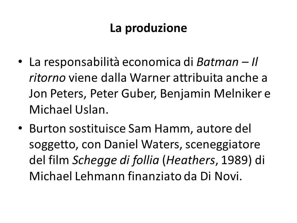 Alcune considerazioni fatte da Burton Come tipo di energia, [Batman – Il ritorno] è stato molto più simile a Beetlejuice che al primo Batman.