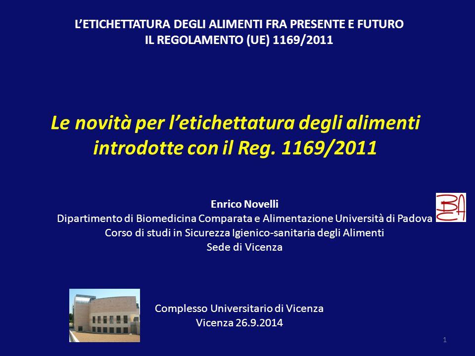 1 Complesso Universitario di Vicenza Vicenza 26.9.2014 Enrico Novelli Dipartimento di Biomedicina Comparata e Alimentazione Università di Padova Corso