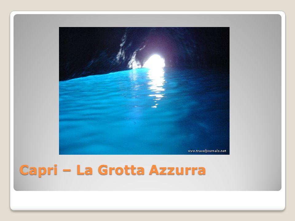 Capri – La Grotta Azzurra