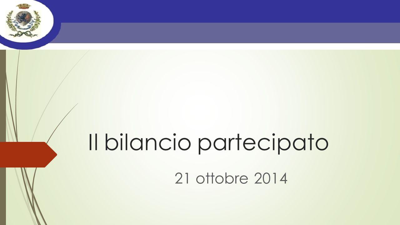 Il bilancio partecipato 21 ottobre 2014