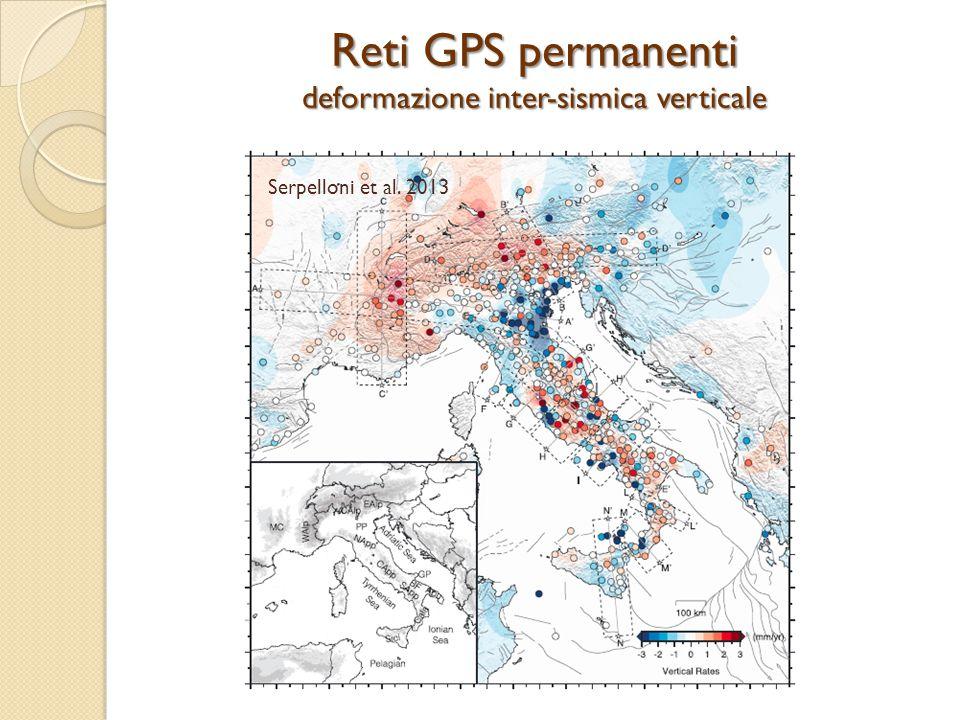 Serpelloni et al. 2013 Reti GPS permanenti deformazione inter-sismica verticale