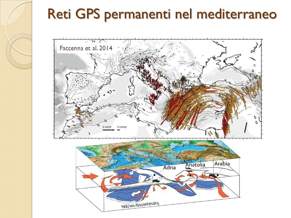 Faccenna et al. 2014 Reti GPS permanenti nel mediterraneo
