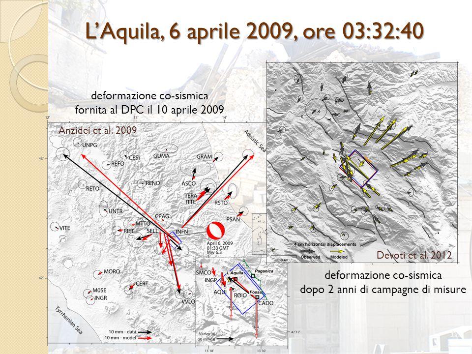 L'Aquila, 6 aprile 2009, ore 03:32:40 Devoti et al.