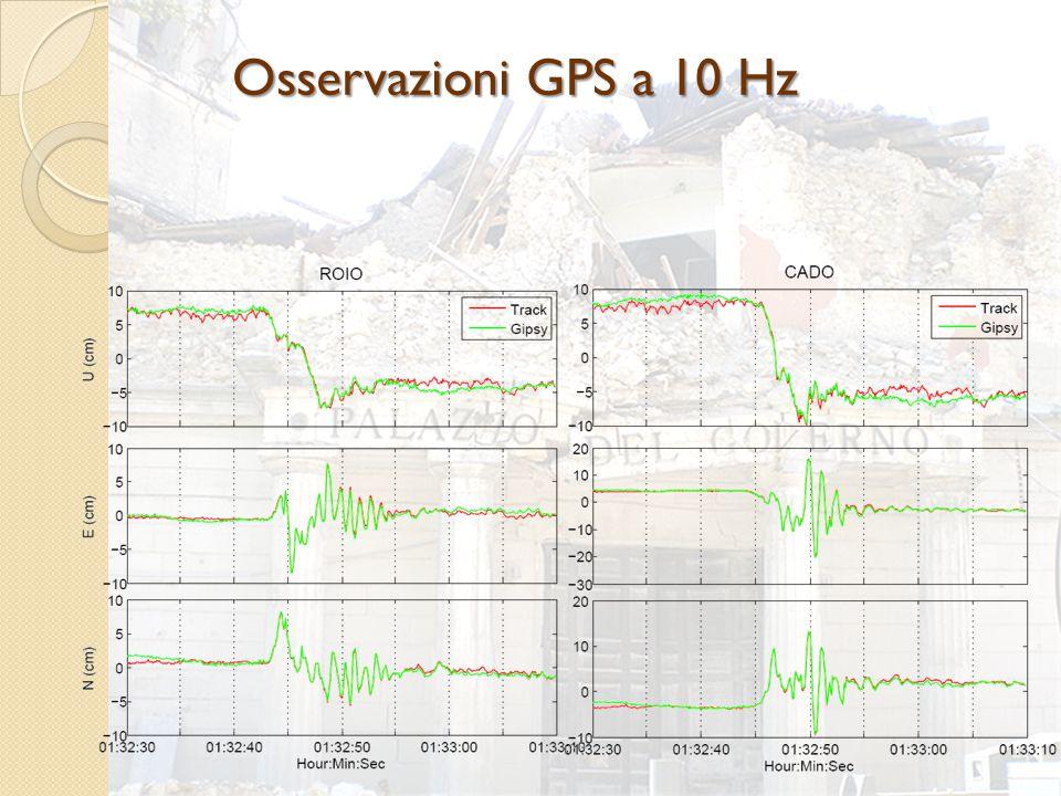 Osservazioni GPS a 10 Hz