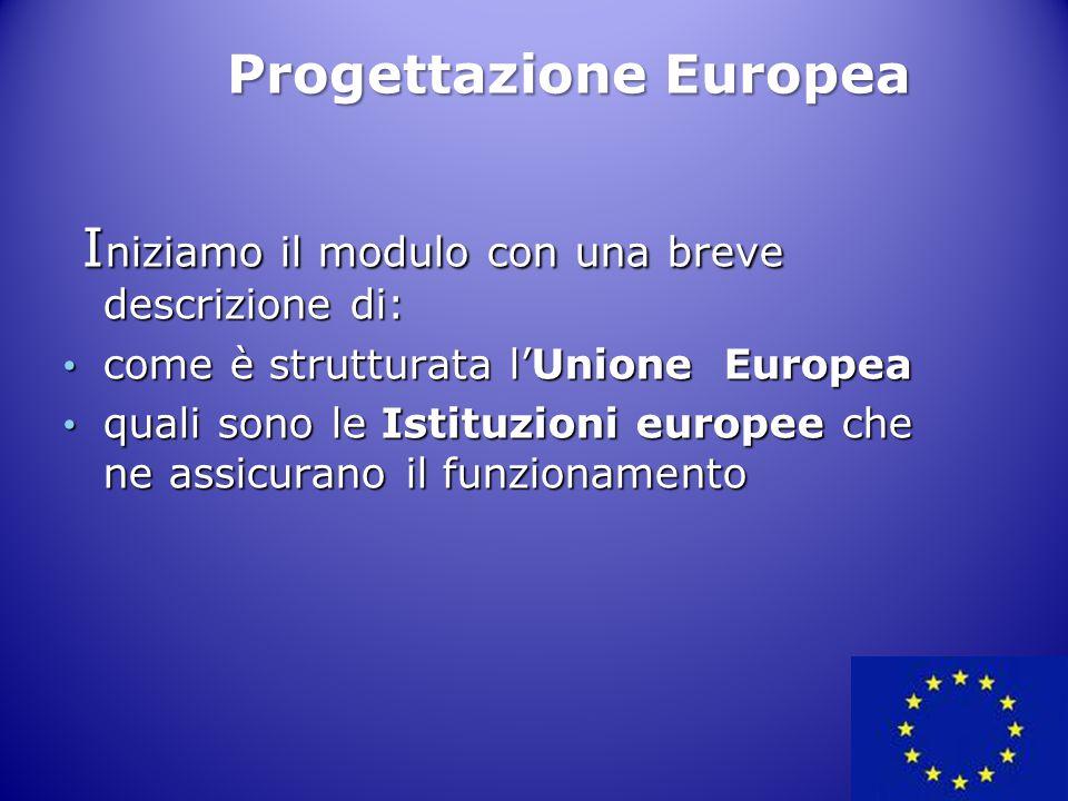 I niziamo il modulo con una breve descrizione di: I niziamo il modulo con una breve descrizione di: come è strutturata l'Unione Europea come è struttu