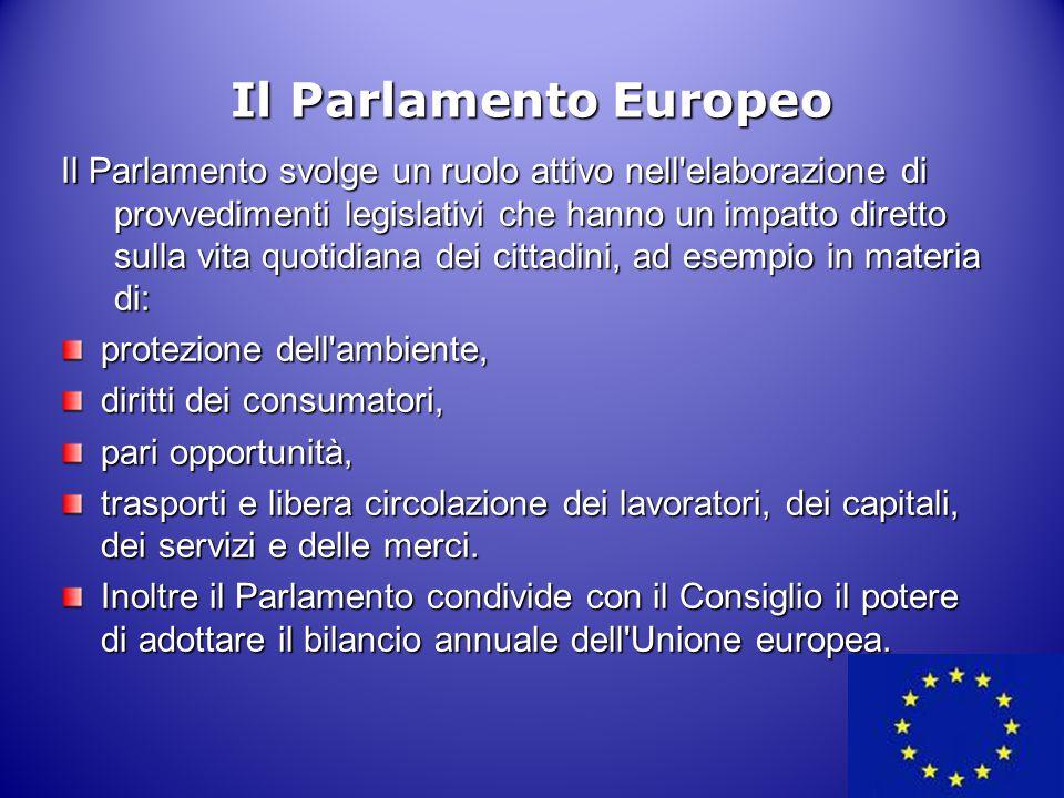Il Parlamento svolge un ruolo attivo nell'elaborazione di provvedimenti legislativi che hanno un impatto diretto sulla vita quotidiana dei cittadini,