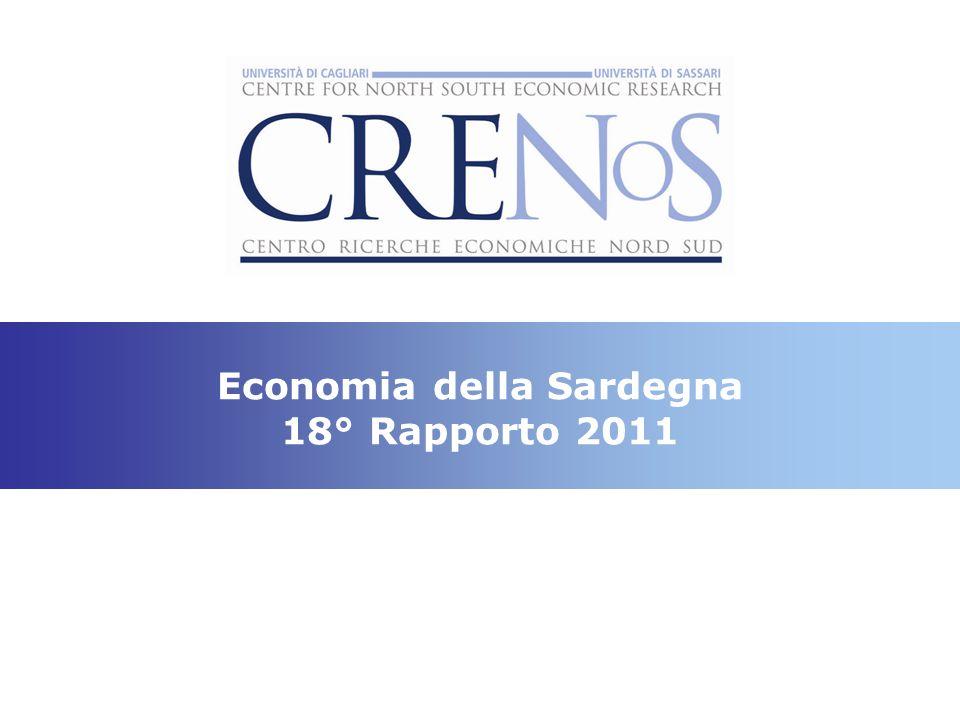 Recuperare il ritardo è possibile: - il caso della gestione dei rifiuti urbani Fonte: ISPRA e ARPAS % raccolta differenziata Regioni200420082009 Sardegna5,334,742,5 Mezzo- giorno 8,114,7- Centro- Nord 29,838,0- Italia22,730,6- XVIII Rapporto CRENoS, 2011 Kg pro capite di RAEE trattati, 2010