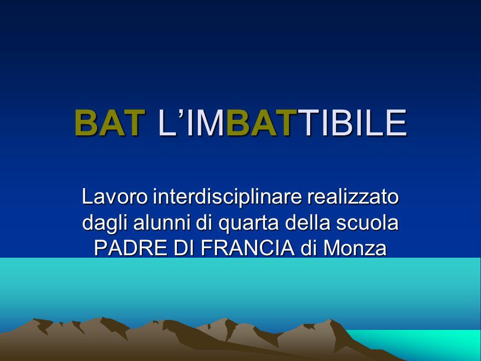 BAT L'IMBATTIBILE Lavoro interdisciplinare realizzato dagli alunni di quarta della scuola PADRE DI FRANCIA di Monza