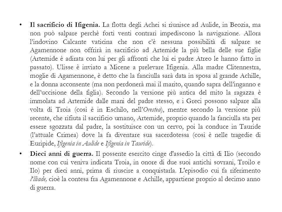 Il sacrificio di Ifigenia.