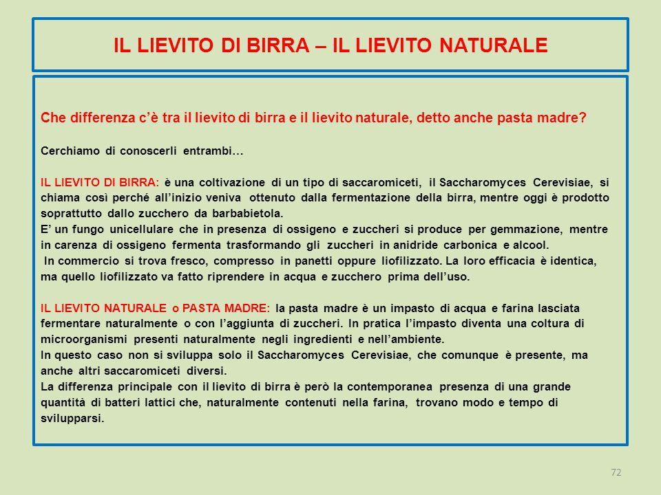 IL LIEVITO DI BIRRA – IL LIEVITO NATURALE Che differenza c'è tra il lievito di birra e il lievito naturale, detto anche pasta madre.