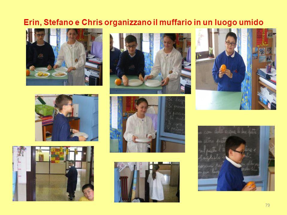 Erin, Stefano e Chris organizzano il muffario in un luogo umido 79