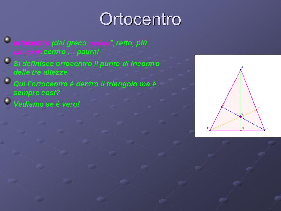 Ortocentro ortocentro (dal greco 