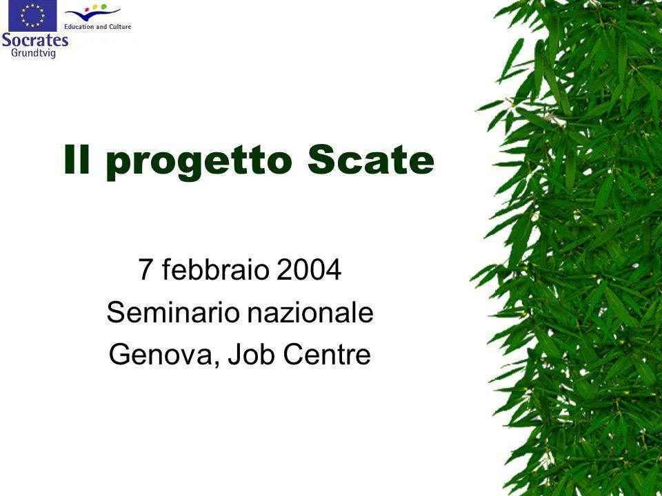 Il progetto Scate 7 febbraio 2004 Seminario nazionale Genova, Job Centre