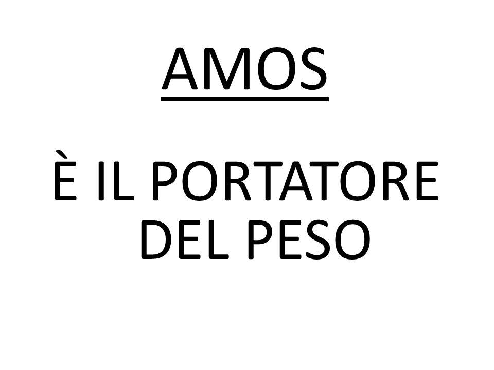 È IL PORTATORE DEL PESO AMOS