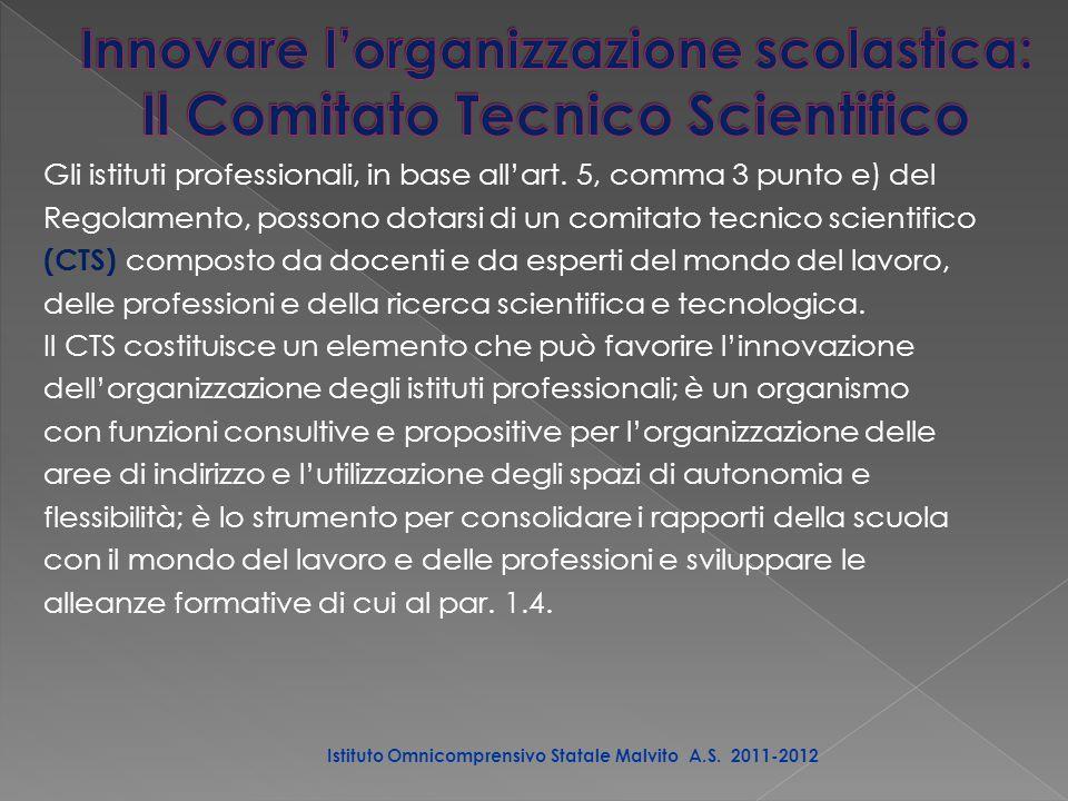 Gli istituti professionali, in base all'art.