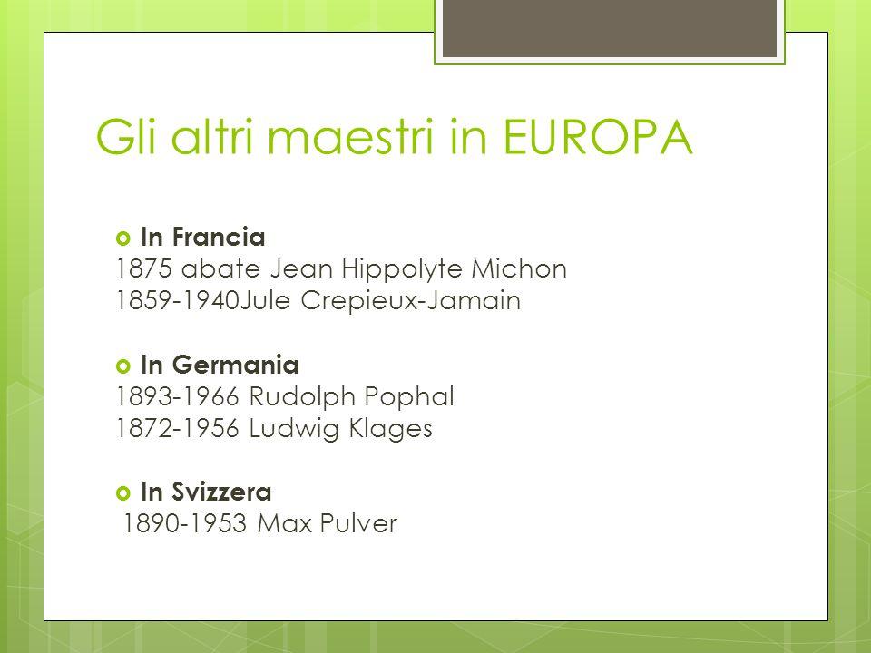 I pionieri della grafologia In Italia gli studi grafologici ebbero scarso credito fino a quando non apparve la figura di Padre Girolamo Maria Moretti.