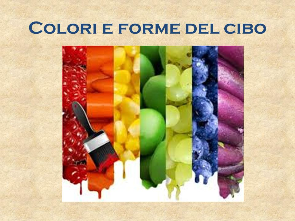Il cibo colorato