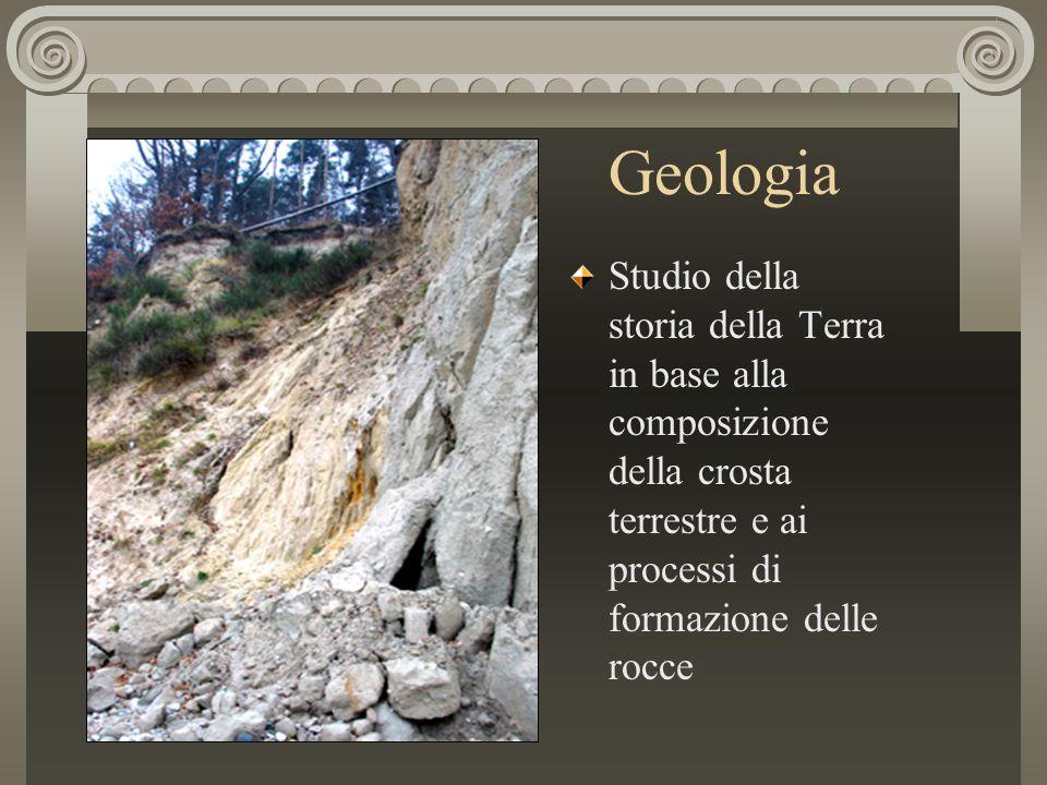 Geologia Studio della storia della Terra in base alla composizione della crosta terrestre e ai processi di formazione delle rocce