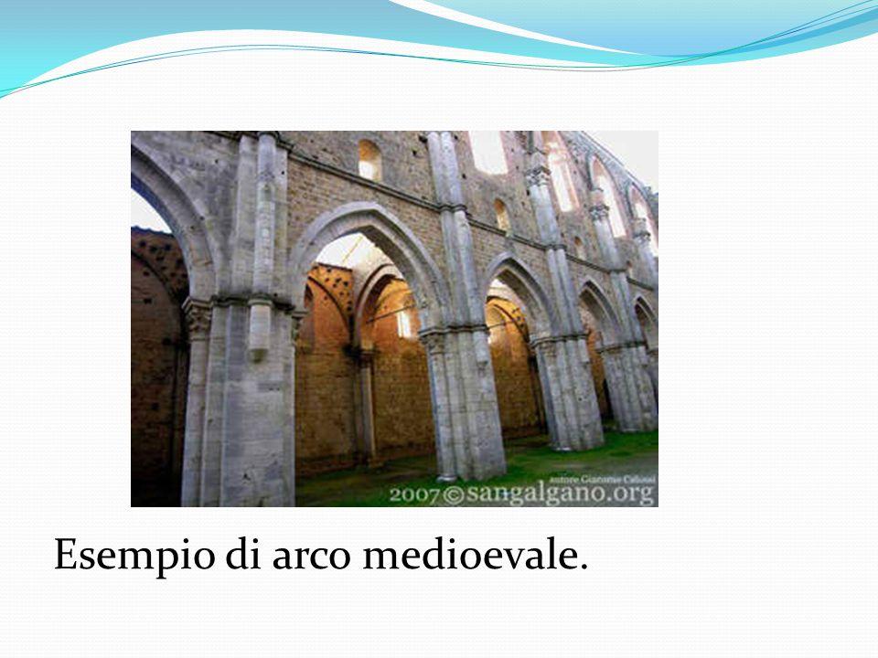 Esempio di arco medioevale.