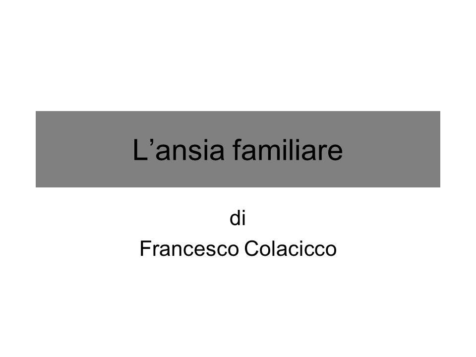 L'ansia familiare di Francesco Colacicco