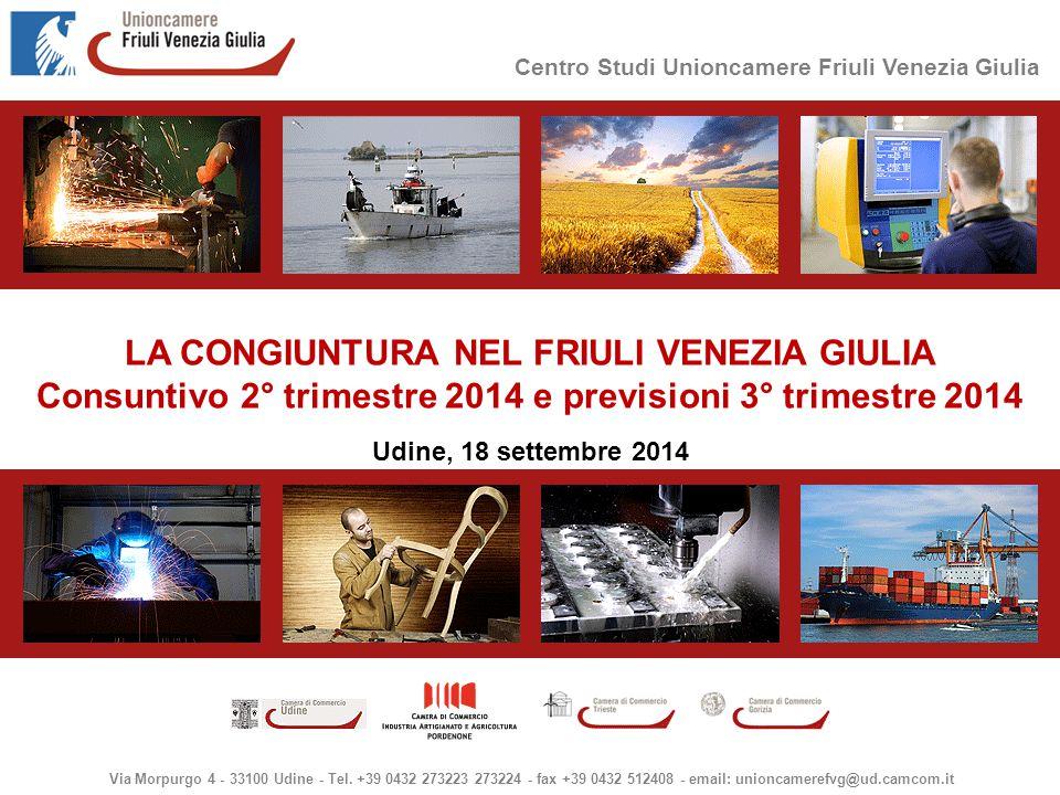 Centro Studi Unioncamere Friuli Venezia Giulia Via Morpurgo 4 - 33100 Udine - Tel.