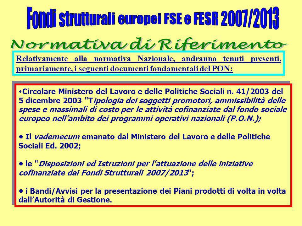 Circolare Ministero del Lavoro e delle Politiche Sociali n. 41/2003 del 5 dicembre 2003