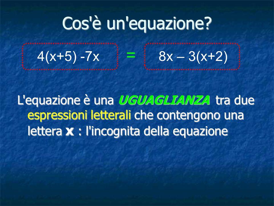 Cos è un equazione.
