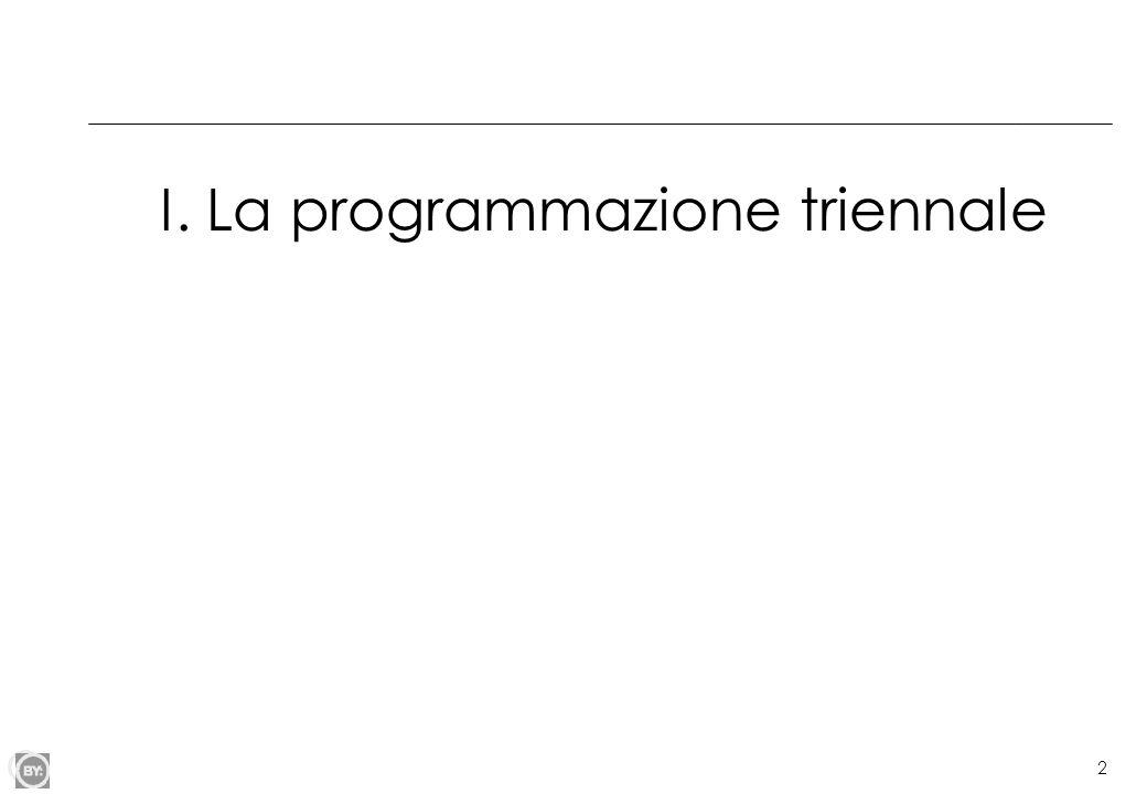 3 La programmazione triennale nelle università Legge 31 marzo 2005, n.