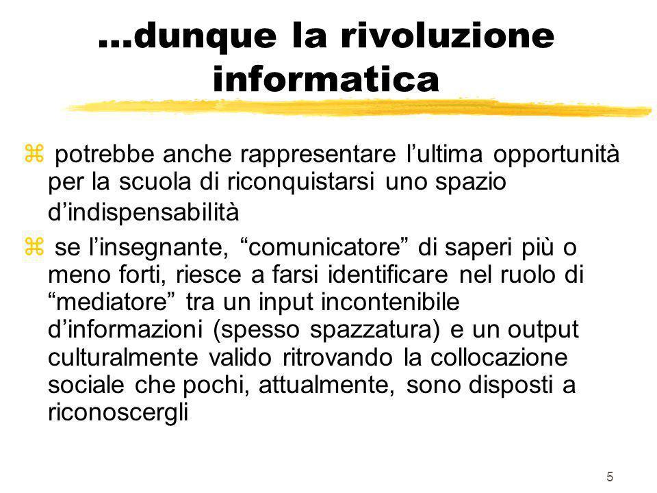 15 Impatto delle TIC nel contesto didattico Le ricadute sulla didattica sono possibili solo se le TIC sono capite ed utilizzate al meglio.