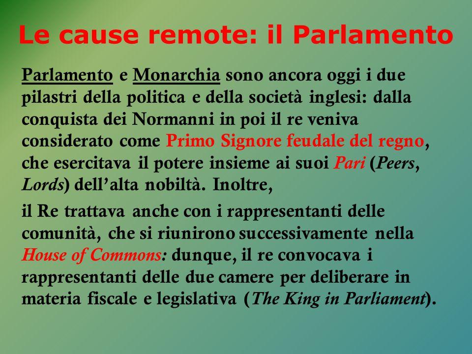 Parlamento e Monarchia sono ancora oggi i due pilastri della politica e della società inglesi: dalla conquista dei Normanni in poi il re veniva consid