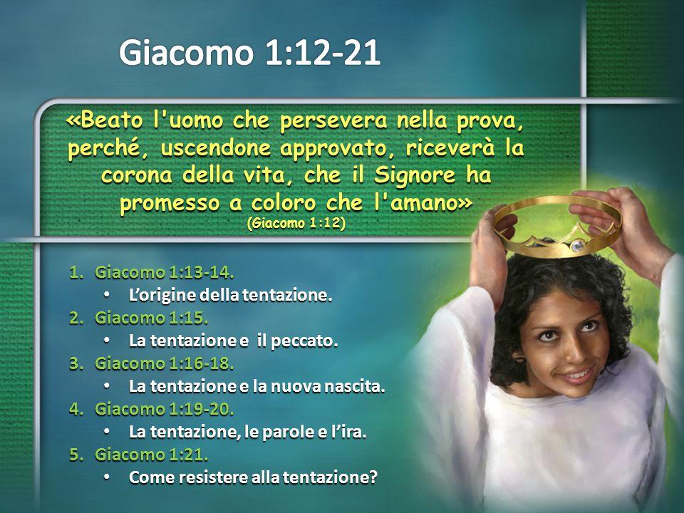 In primo luogo, Giacomo ci mostra che Dio NON E' l'autore della tentazione.