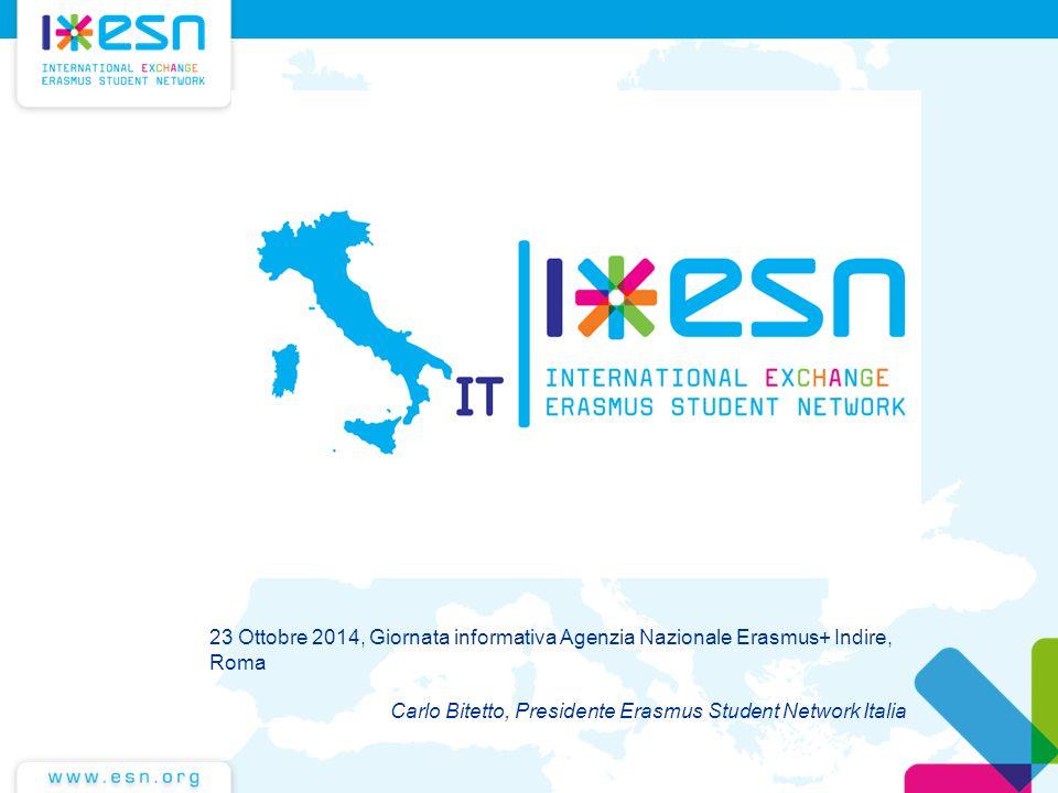 23 Ottobre 2014, Giornata informativa Agenzia Nazionale Erasmus+ Indire, Roma Carlo Bitetto, Presidente Erasmus Student Network Italia