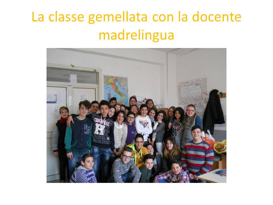 La classe gemellata con la docente madrelingua