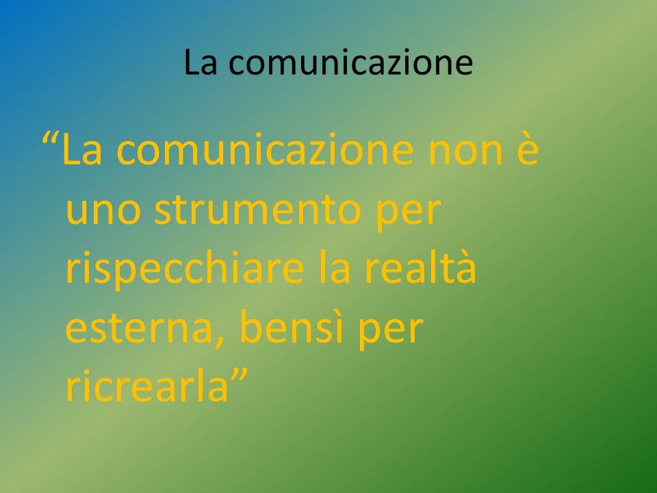 """La comunicazione """"La comunicazione non è uno strumento per rispecchiare la realtà esterna, bensì per ricrearla"""""""