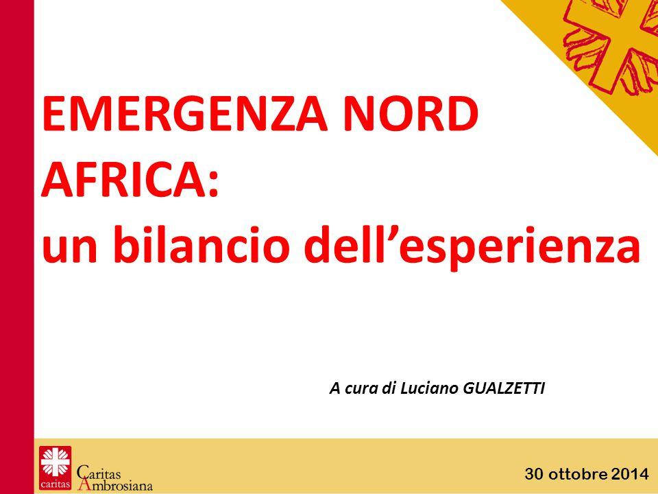 30 ottobre 2014 EMERGENZA NORD AFRICA: un bilancio dell'esperienza A cura di Luciano GUALZETTI