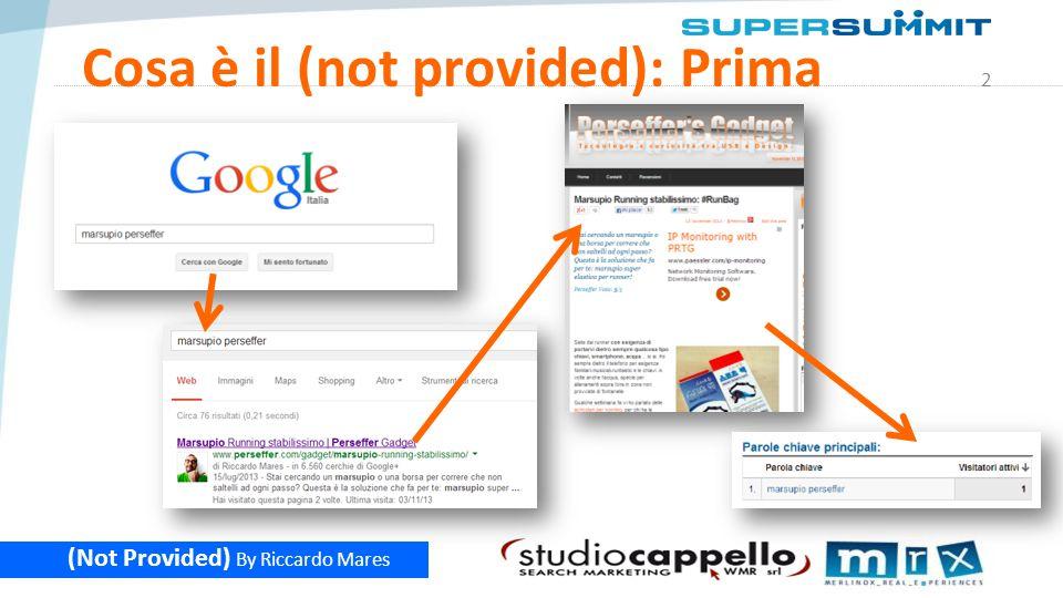 13 (Not Provided) By Riccardo Mares Rank Tool Sono dei Software – o delle web application – che dato un sito, un insieme di keyword e un elenco di motori, tracciano la posizione periodicamente.