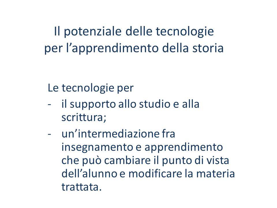 Le tecnologie per -il supporto allo studio e alla scrittura; -un'intermediazione fra insegnamento e apprendimento che può cambiare il punto di vista d